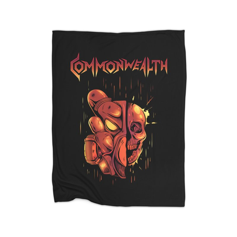 Metal band - Commonwealth Home Fleece Blanket Blanket by Wolf Bite Shop