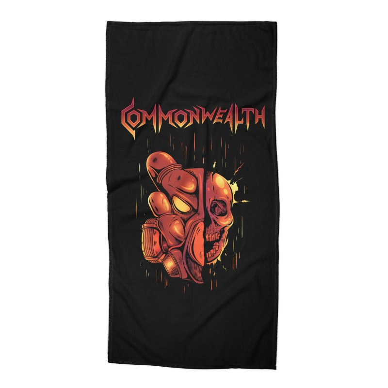 Metal band - Commonwealth Accessories Beach Towel by Wolf Bite Shop