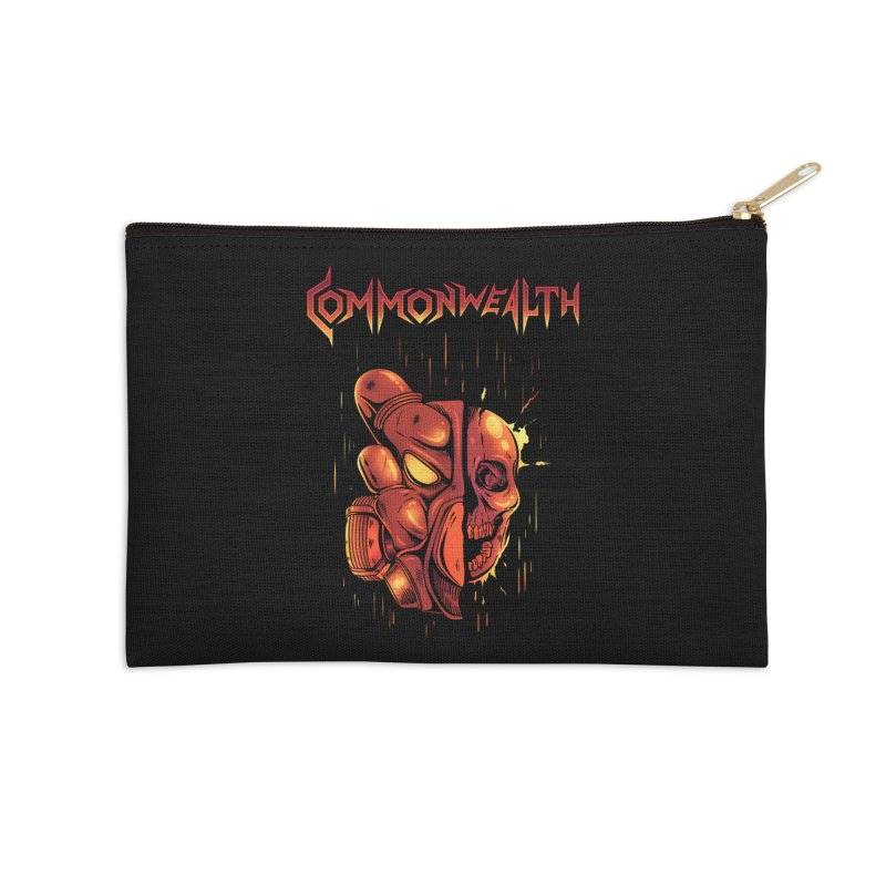 Metal band - Commonwealth Accessories Zip Pouch by Wolf Bite Shop