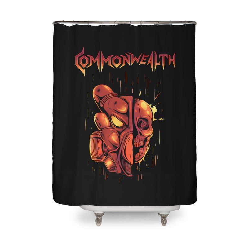Metal band - Commonwealth Home Shower Curtain by Wolf Bite Shop