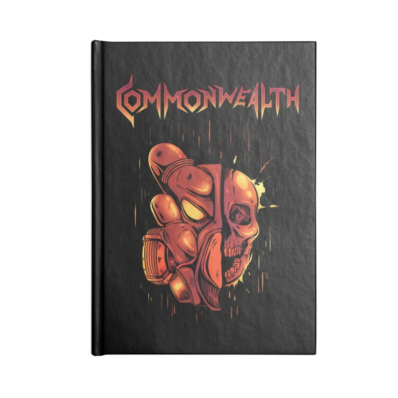 Metal band - Commonwealth Accessories Lined Journal Notebook by Wolf Bite Shop