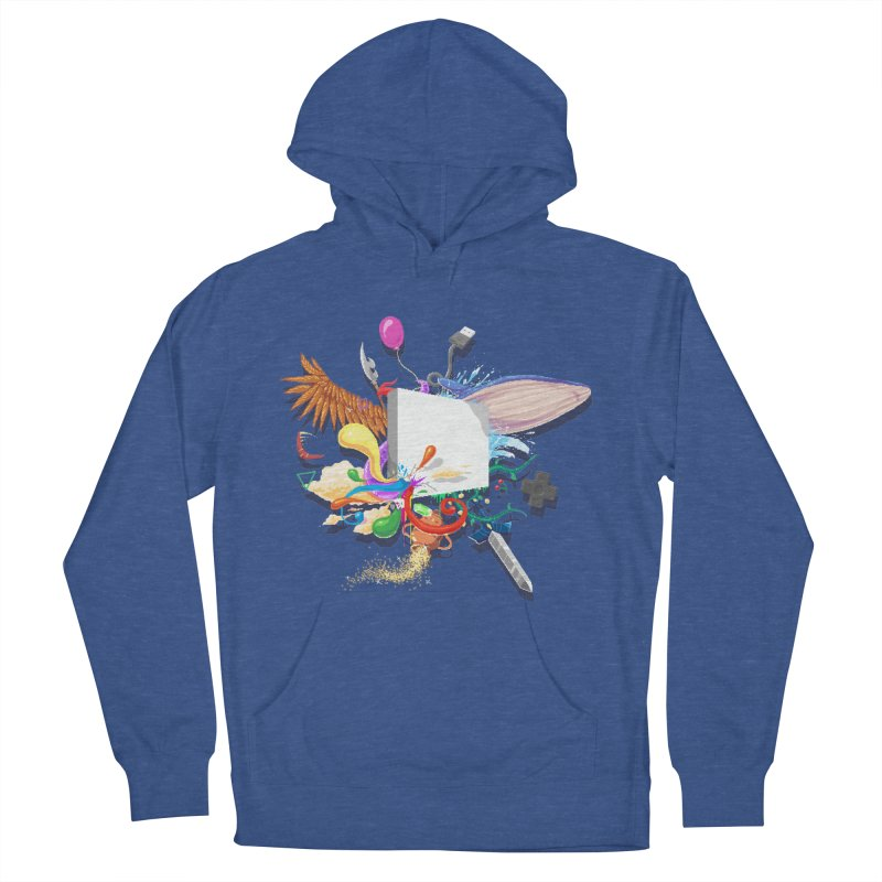 Pixel Story Women's French Terry Pullover Hoody by Wolf Bite Shop