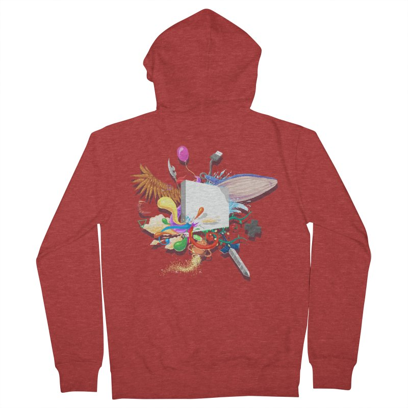 Pixel Story Men's French Terry Zip-Up Hoody by Wolf Bite Shop