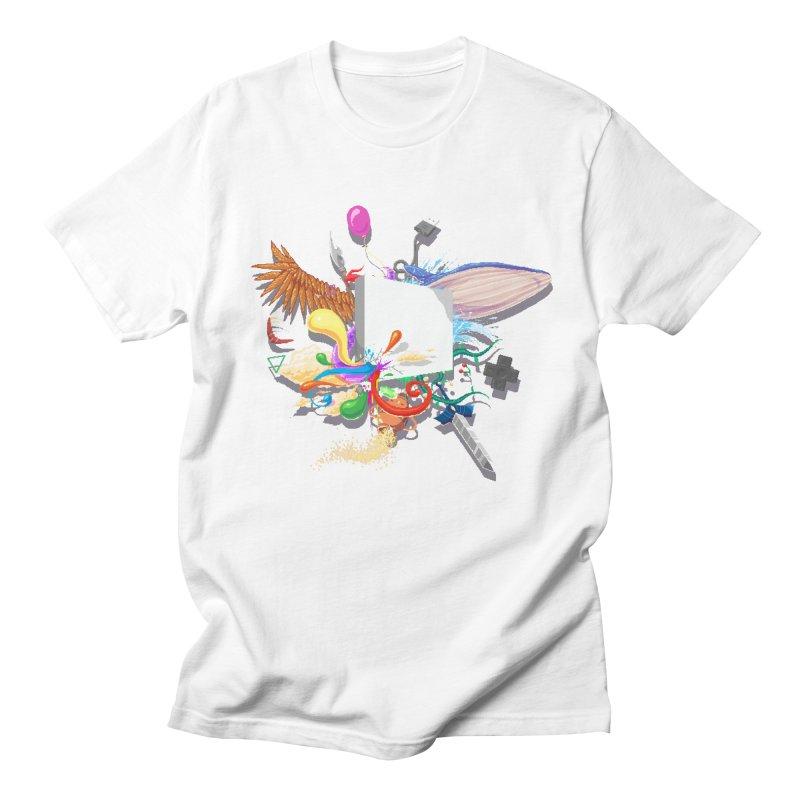 Pixel Story Men's Regular T-Shirt by Wolf Bite Shop