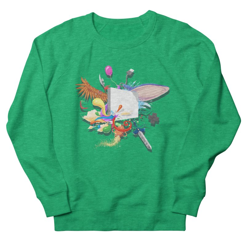 Pixel Story Women's French Terry Sweatshirt by Wolf Bite Shop