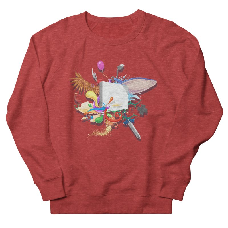 Pixel Story Women's French Terry Sweatshirt by Wolf Bite Shop