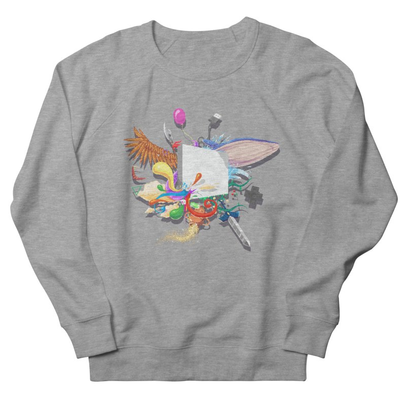 Pixel Story Men's French Terry Sweatshirt by Wolf Bite Shop