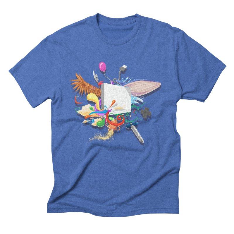 Pixel Story Men's Triblend T-Shirt by Wolf Bite Shop