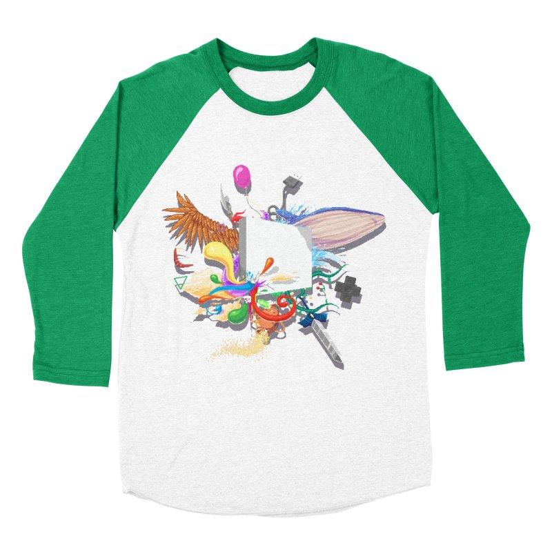 Pixel Story Women's Baseball Triblend T-Shirt by Wolf Bite Shop