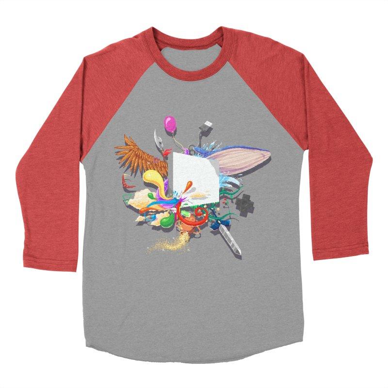 Pixel Story Women's Baseball Triblend Longsleeve T-Shirt by Wolf Bite Shop