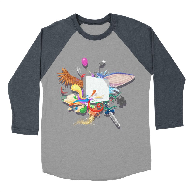 Pixel Story Women's Baseball Triblend Longsleeve T-Shirt by Wolf Bite Shop
