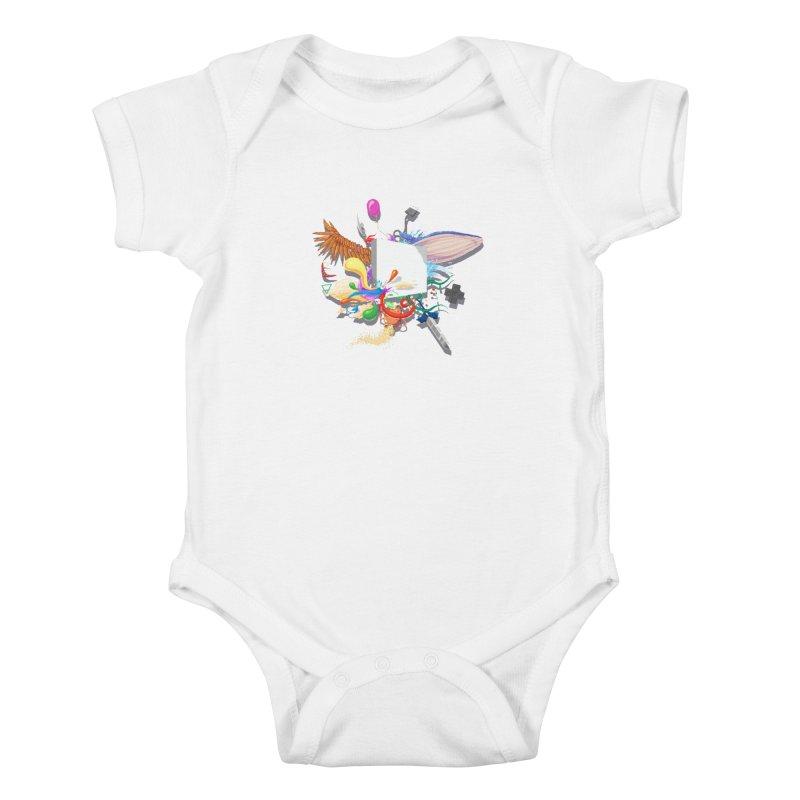 Pixel Story Kids Baby Bodysuit by Wolf Bite Shop