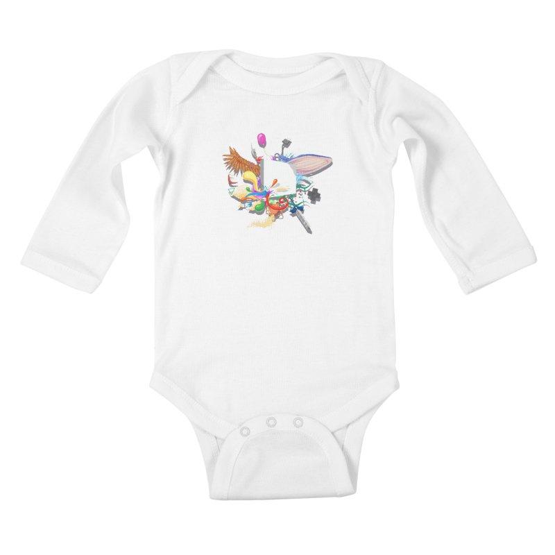 Pixel Story Kids Baby Longsleeve Bodysuit by Wolf Bite Shop