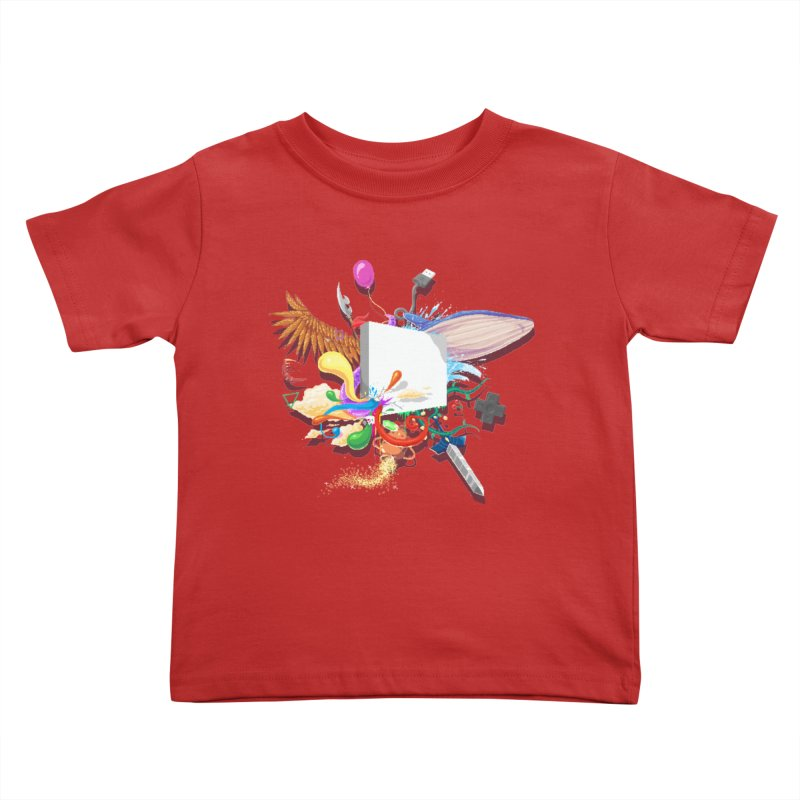 Pixel Story Kids Toddler T-Shirt by Wolf Bite Shop