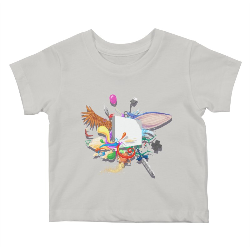 Pixel Story Kids Baby T-Shirt by Wolf Bite Shop