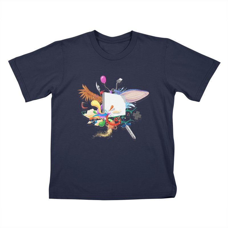 Pixel Story Kids T-Shirt by Wolf Bite Shop
