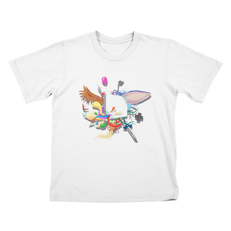 Pixel Story Kids T-Shirt by Wolf Bite Shop