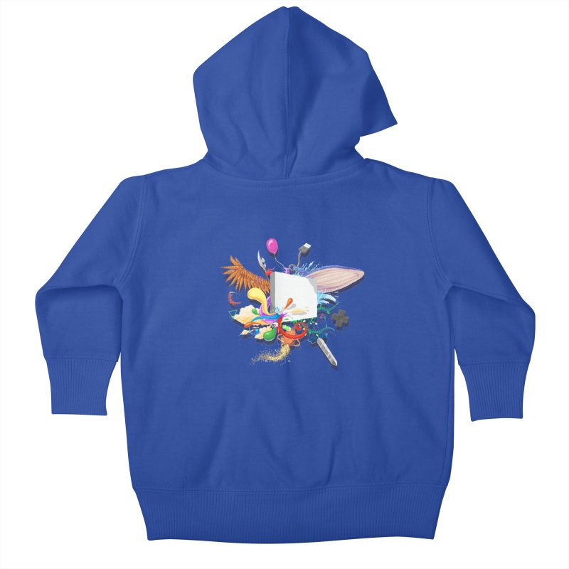 Pixel Story Kids Baby Zip-Up Hoody by Wolf Bite Shop