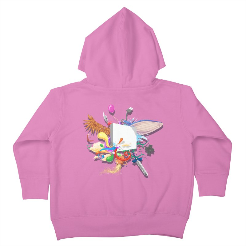 Pixel Story Kids Toddler Zip-Up Hoody by Wolf Bite Shop
