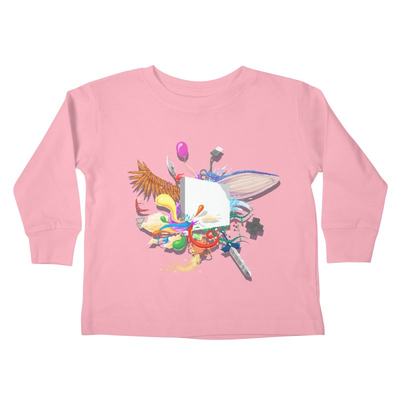 Pixel Story Kids Toddler Longsleeve T-Shirt by Wolf Bite Shop