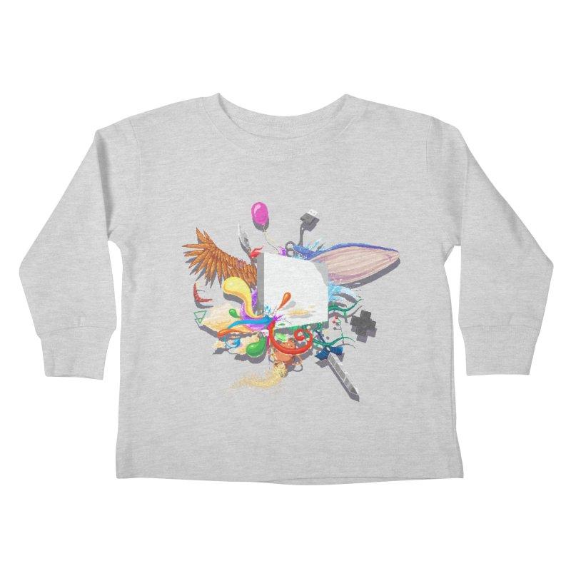 Pixel Story Kids Toddler Longsleeve T-Shirt by Wolf Bite Shop