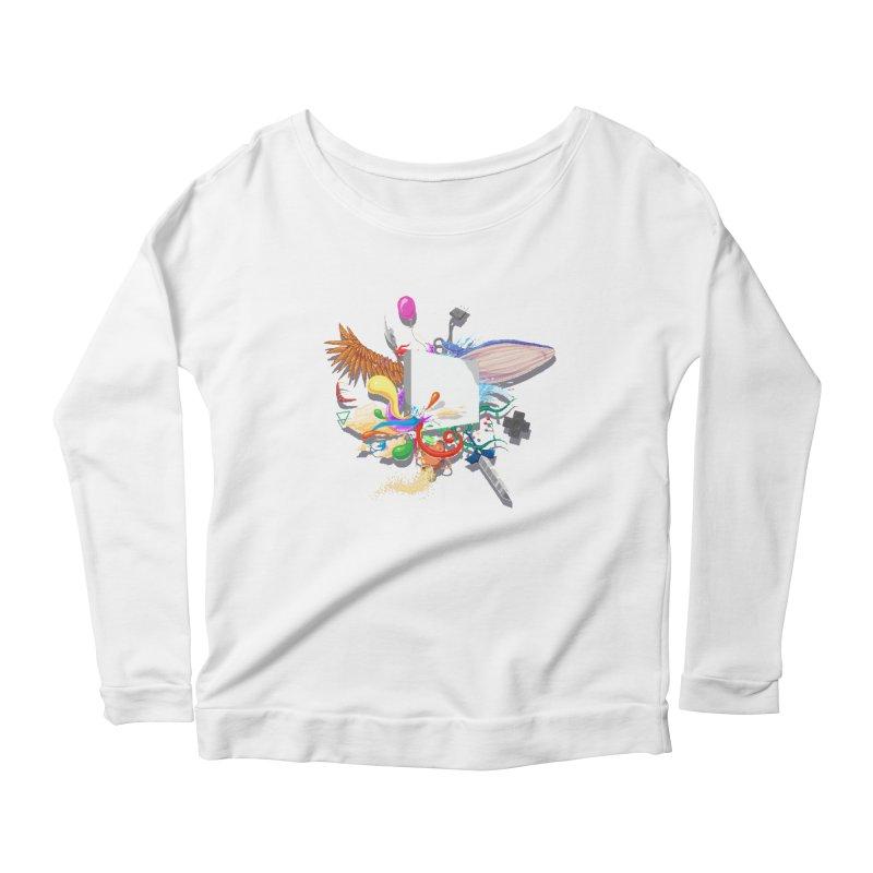 Pixel Story Women's Scoop Neck Longsleeve T-Shirt by Wolf Bite Shop
