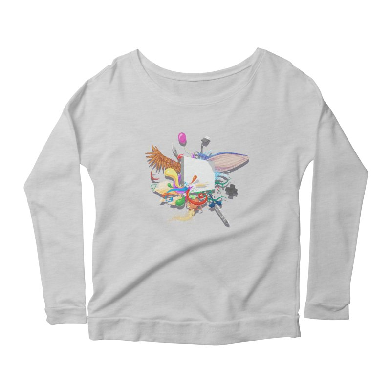 Pixel Story Women's Longsleeve Scoopneck  by Wolf Bite Shop
