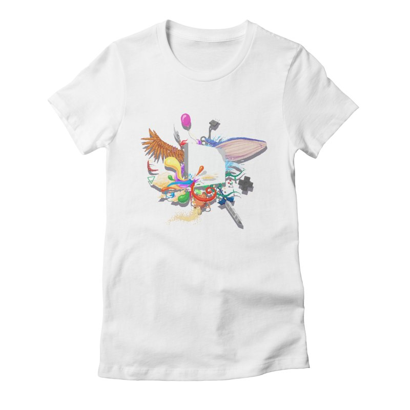 Pixel Story Women's Fitted T-Shirt by Wolf Bite Shop