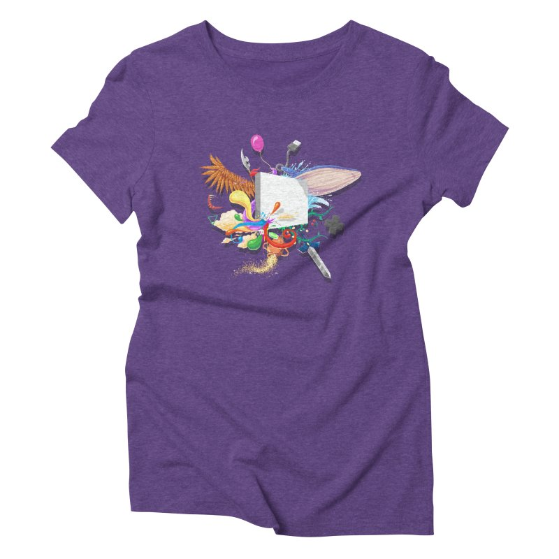 Pixel Story Women's Triblend T-Shirt by Wolf Bite Shop