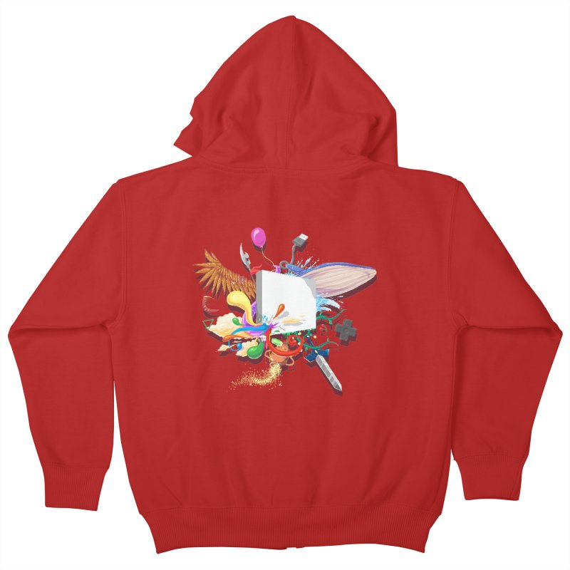 Pixel Story Kids Zip-Up Hoody by Wolf Bite Shop