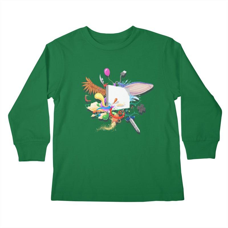 Pixel Story Kids Longsleeve T-Shirt by Wolf Bite Shop