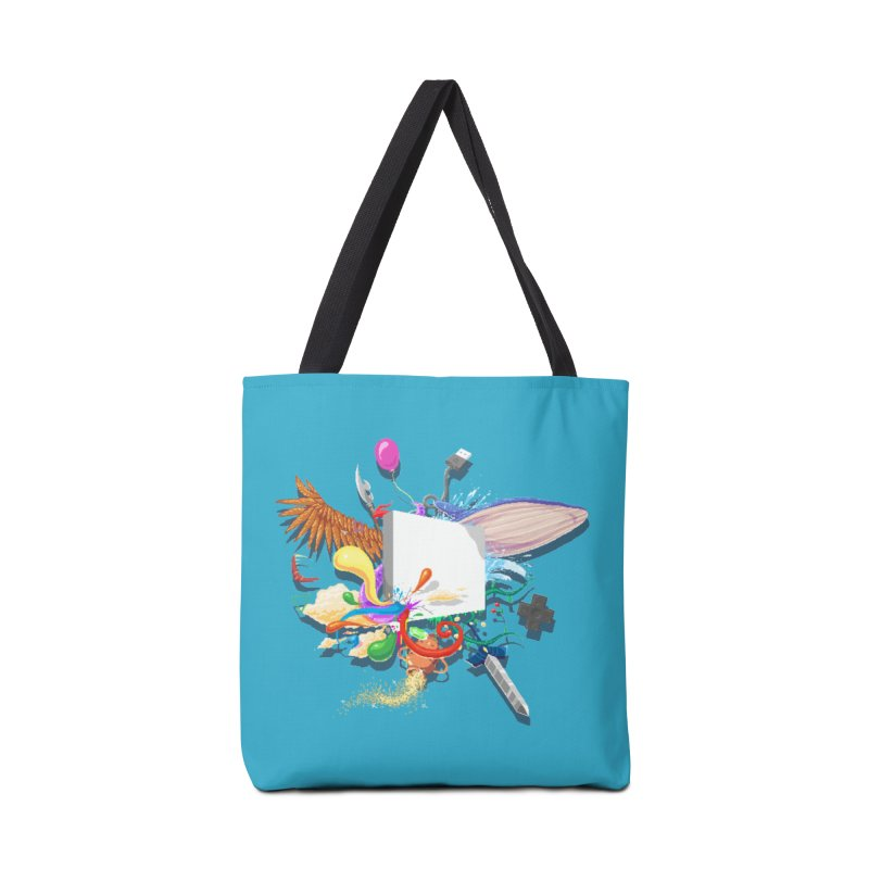 Pixel Story Accessories Tote Bag Bag by Wolf Bite Shop