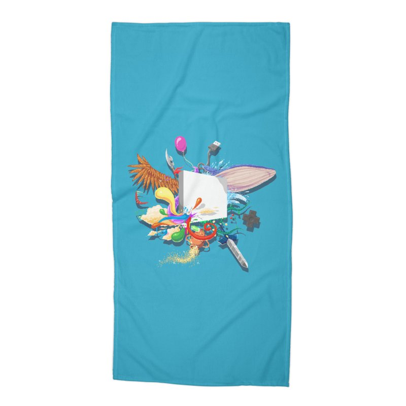 Pixel Story Accessories Beach Towel by Wolf Bite Shop