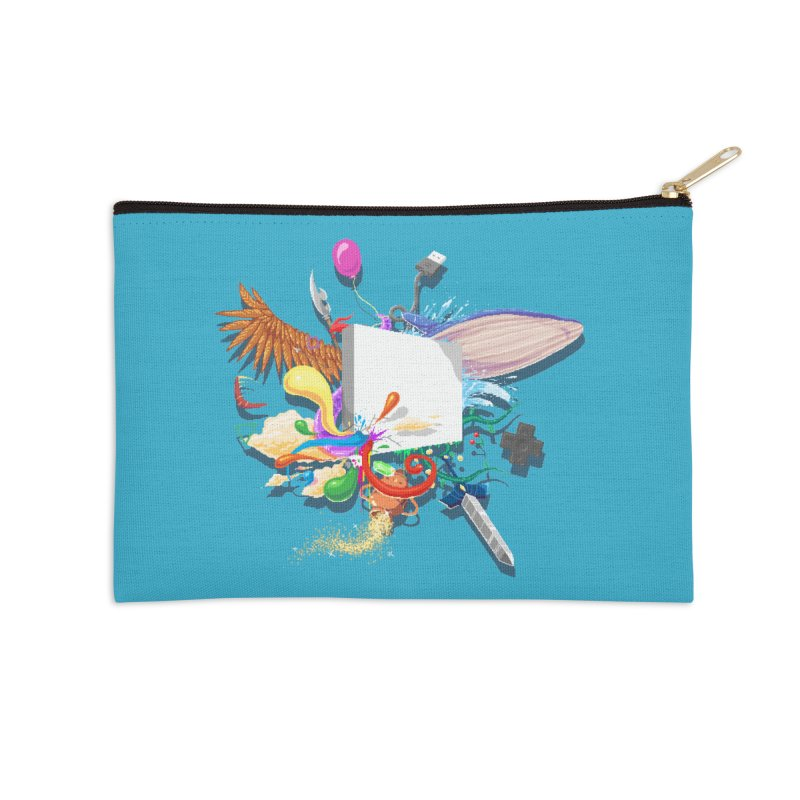 Pixel Story Accessories Zip Pouch by Wolf Bite Shop