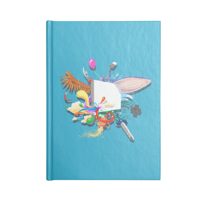 Pixel Story Accessories Lined Journal Notebook by Wolf Bite Shop