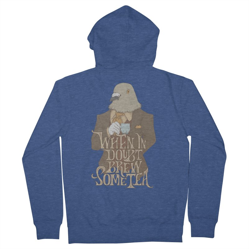 Brew Some Tea Women's French Terry Zip-Up Hoody by Wolf Bite Shop