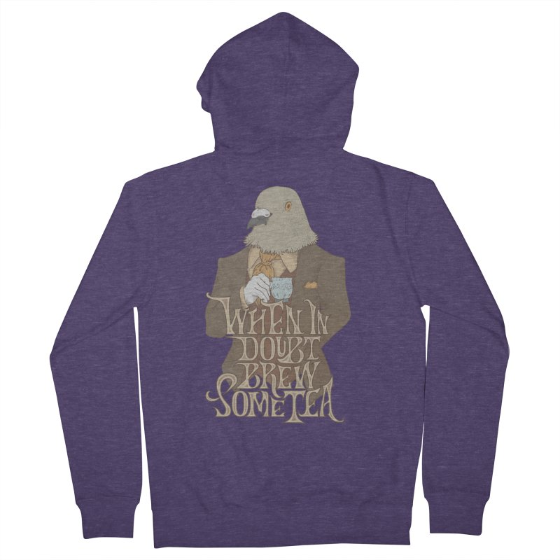 Brew Some Tea Men's French Terry Zip-Up Hoody by Wolf Bite Shop