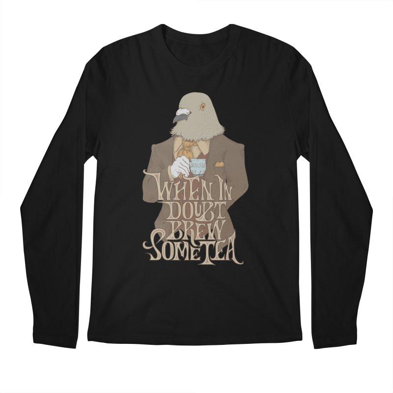 Brew Some Tea Men's Regular Longsleeve T-Shirt by Wolf Bite Shop