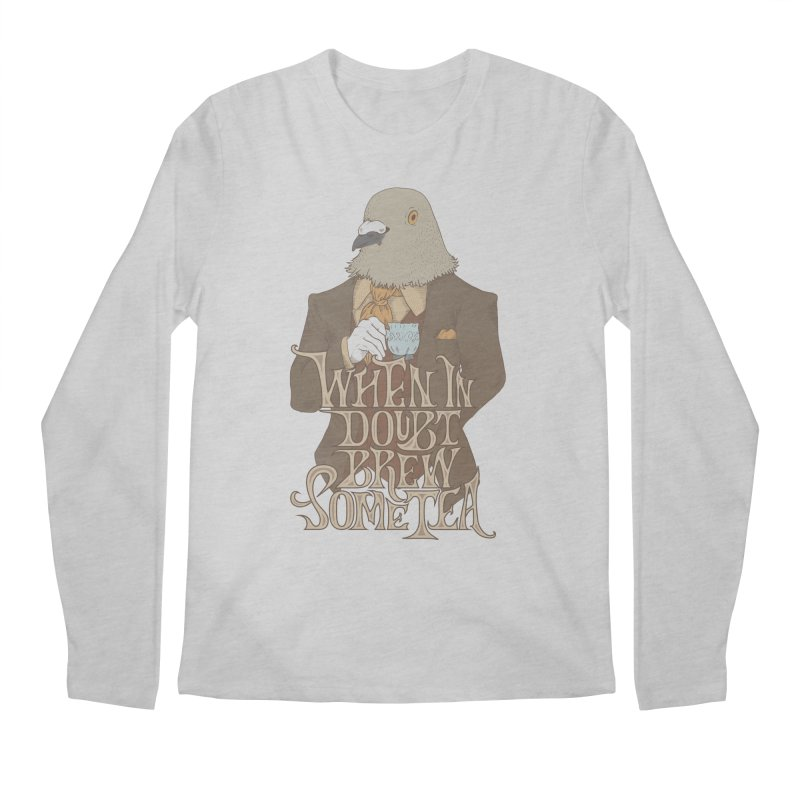 Brew Some Tea Men's Regular Longsleeve T-Shirt by Wolf Bite Shop