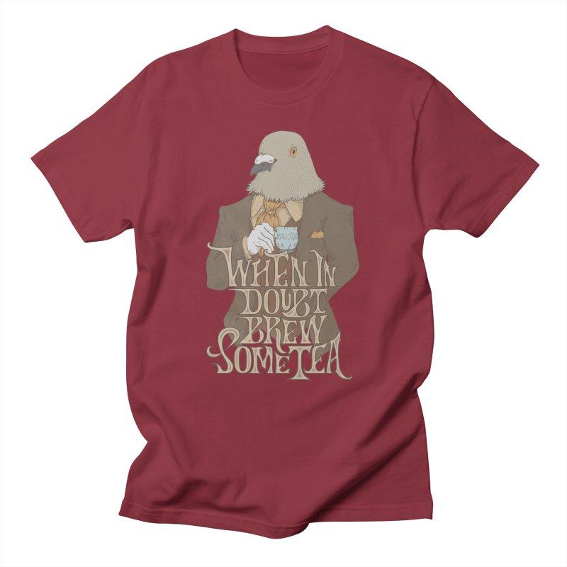 Brew Some Tea Men's Regular T-Shirt by Wolf Bite Shop