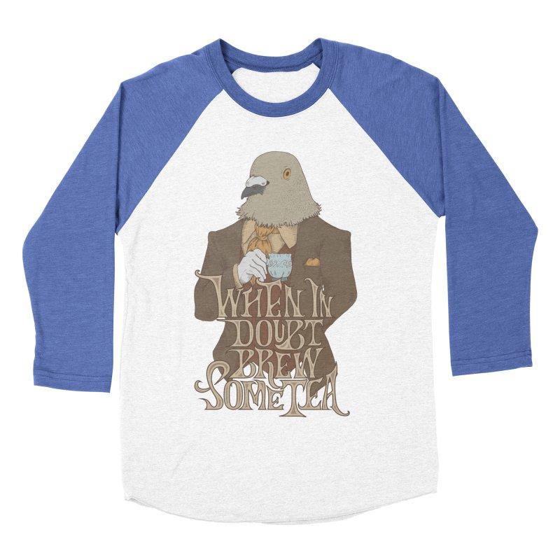 Brew Some Tea Women's Baseball Triblend T-Shirt by Wolf Bite Shop