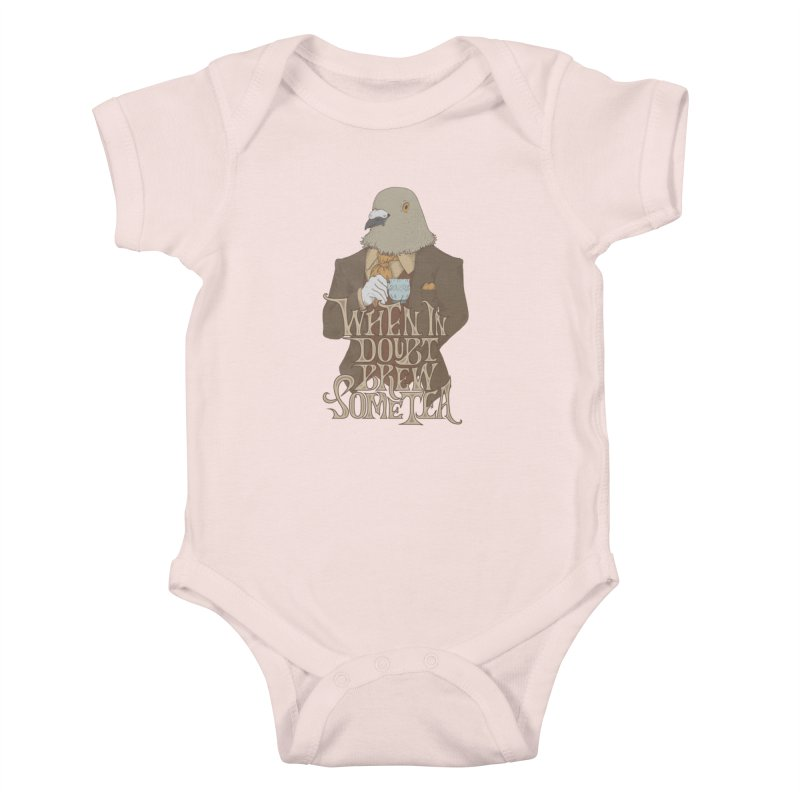 Brew Some Tea Kids Baby Bodysuit by Wolf Bite Shop