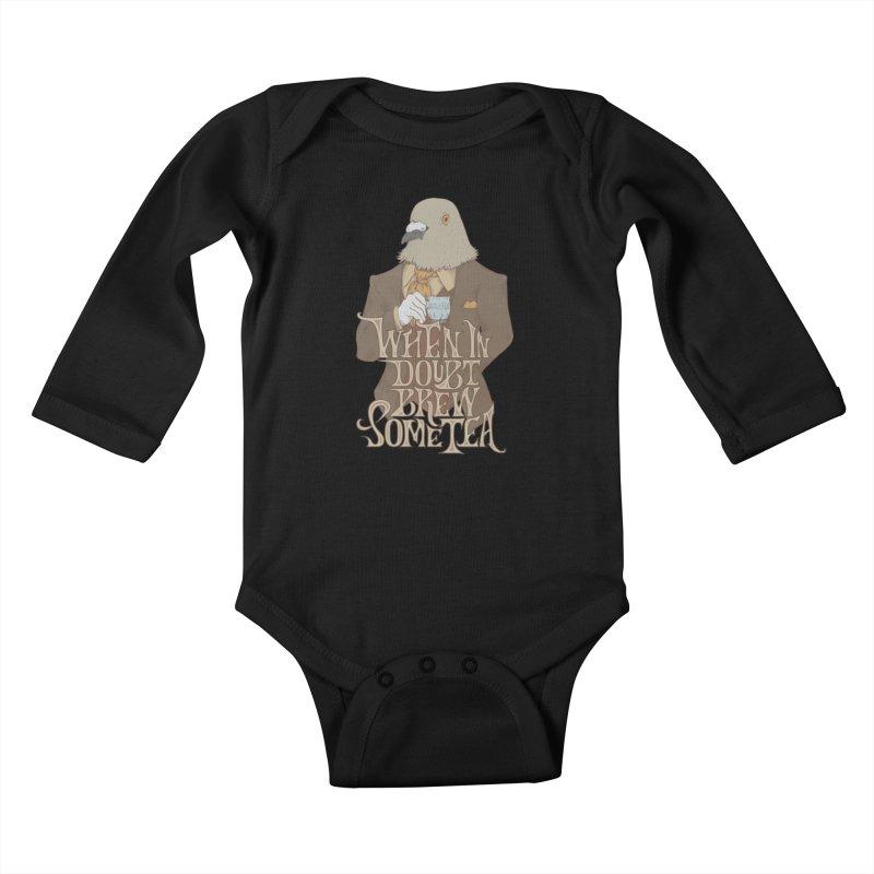 Brew Some Tea Kids Baby Longsleeve Bodysuit by Wolf Bite Shop