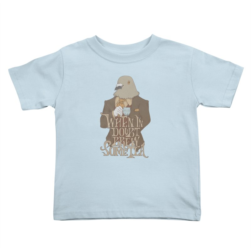 Brew Some Tea Kids Toddler T-Shirt by Wolf Bite Shop