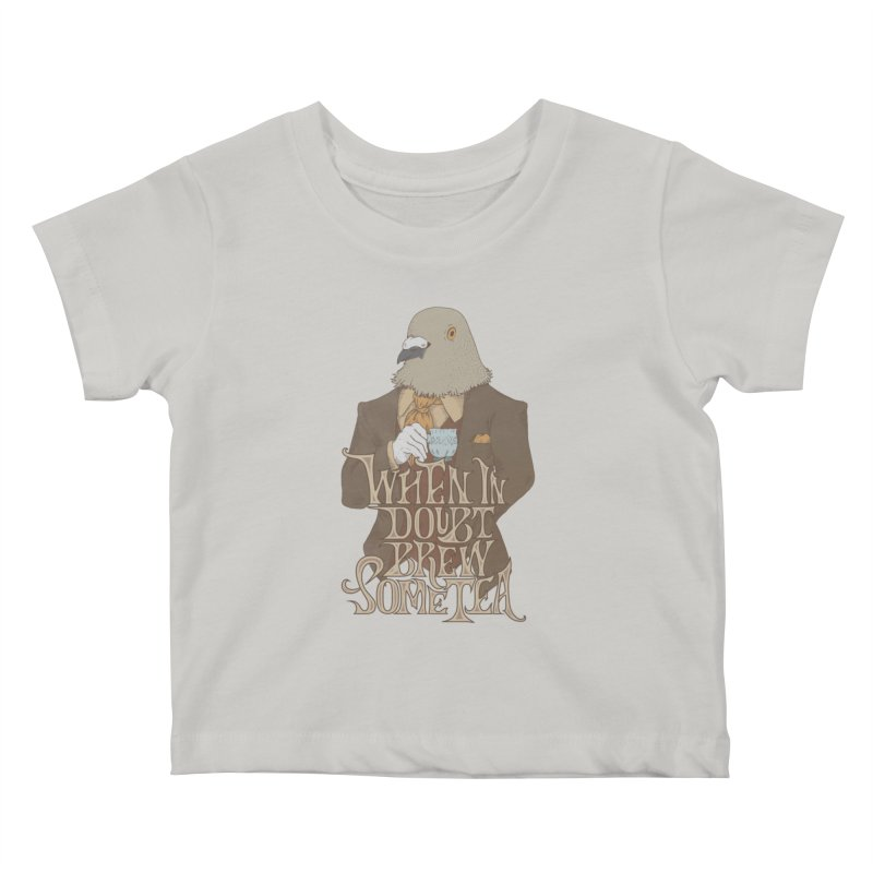Brew Some Tea Kids Baby T-Shirt by Wolf Bite Shop