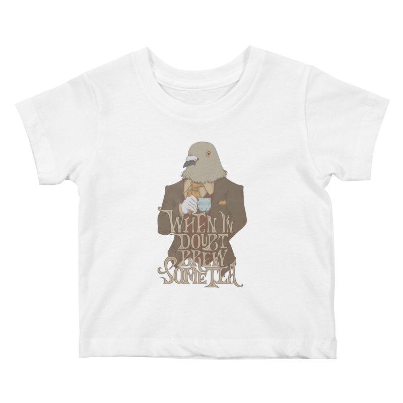 Brew Some Tea Kids Baby T-Shirt by Wolf Bite Shop