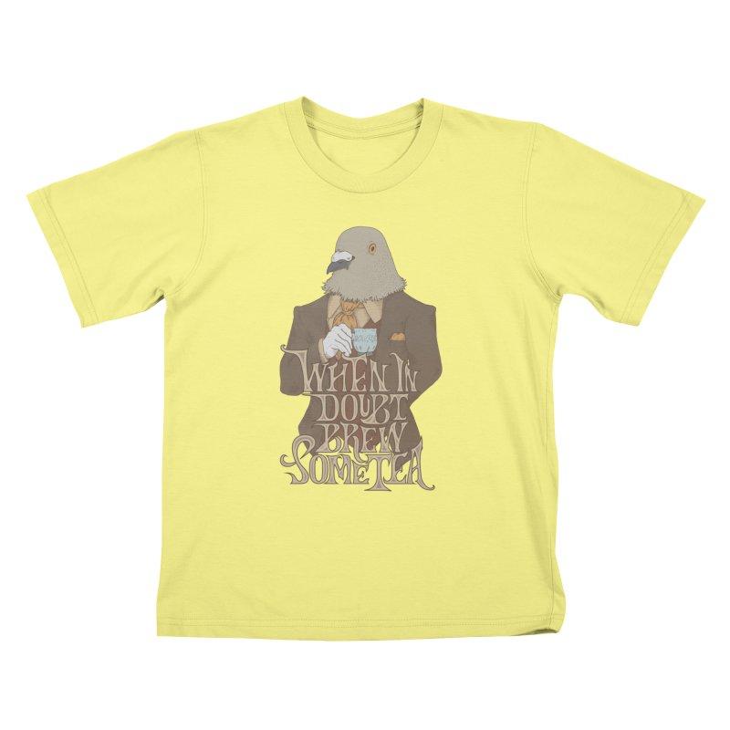 Brew Some Tea Kids T-shirt by Wolf Bite Shop