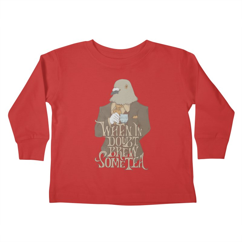 Brew Some Tea Kids Toddler Longsleeve T-Shirt by Wolf Bite Shop