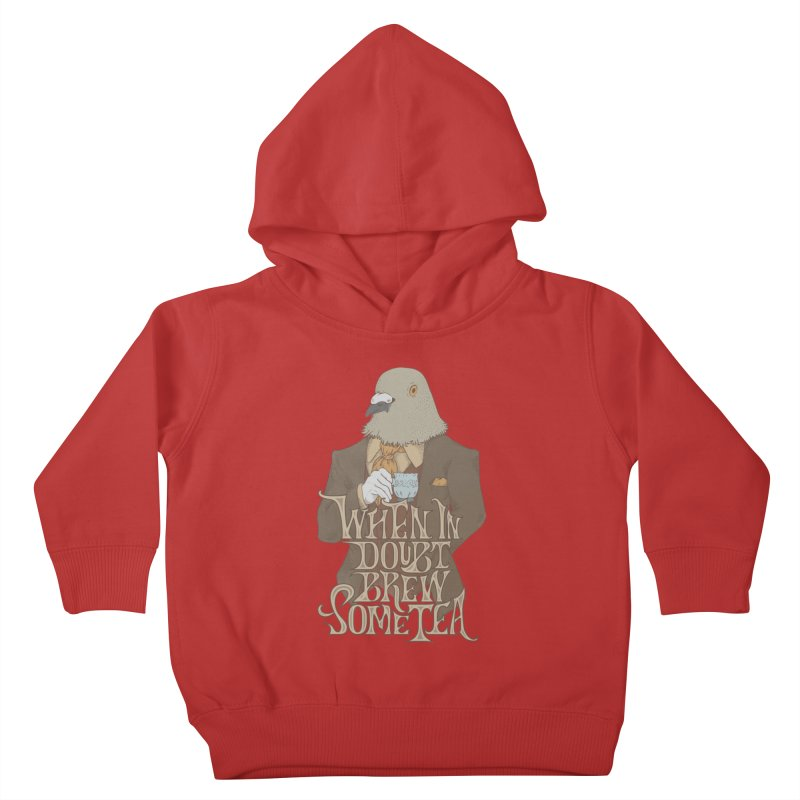 Brew Some Tea Kids Toddler Pullover Hoody by Wolf Bite Shop