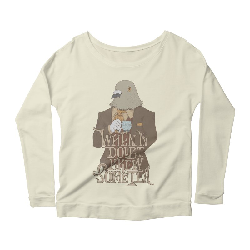 Brew Some Tea Women's Longsleeve Scoopneck  by Wolf Bite Shop